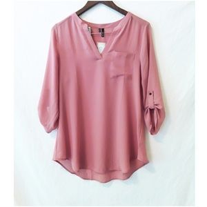 NWT Maurices Blouse Dusty Rose